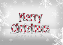 Merry christmas 2011. Logo 2011 merry christmas with snow and gray background Royalty Free Stock Photos