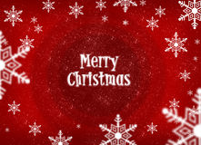 Merry christmas 2011. Logo 2011 merry christmas with snow and red background Stock Photography