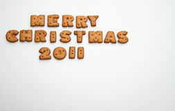 Merry Christmas 2011 Top Left Royalty Free Stock Photography
