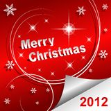 Merry Christmas 2012 red background Stock Image