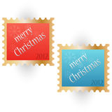 Merry Christmas 2012 stamps Royalty Free Stock Images