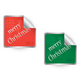 Merry Christmas 2012 stickers Stock Images