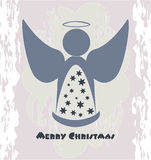 Merry Christmas. Angel - grunge - urban style Stock Photo