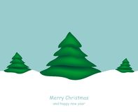 Merry Christmas. Christmas background with trees innervated Stock Photo