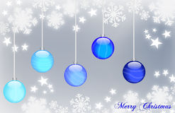Merry Christmas. Background Christmas balls decorated with original glass effect Royalty Free Stock Images
