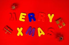 Merry Christmas. Holiday Theme Background Stock Images