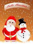Merry Christmas. Postal Merry Christmas in Spanish stock illustration