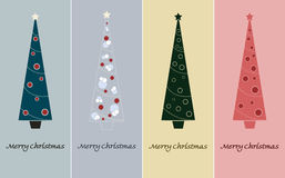 Merry Christmas. Christmas Tree with decoration Royalty Free Stock Images