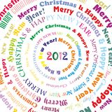 Merry Christmas. The postcard with merry christmas and happy new year congrats Vector Illustration