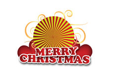 Merry christmas. Composition. Vector based shapes. Scale at any size Stock Photo