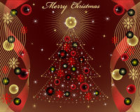 Merry Christmas. Illustration vector background, Merry Christmas Stock Photos