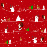 Merry Christmas. Christmas illustration with different symbols Stock Image