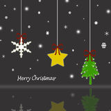 Merry Christmas. Beautiful Christmas background with reflection Royalty Free Stock Images