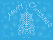 Merry Christmas. Background with Christmas tree vector illustration Royalty Free Stock Photography