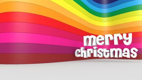 Merry christmas. And a colorful backdrop Stock Photos