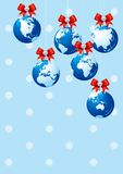 Merry Christmas!. Vector Illustration with baubles as the globes Royalty Free Stock Photography