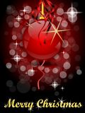 Merry christmas. Black and red Christmas background with ornaments Stock Photo