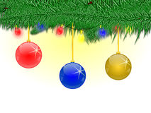 Merry christmas. Black and yellow Christmas background with ornaments Stock Images