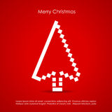 Merry Christmas. Red creative postcard Stock Images