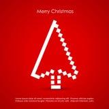 Merry Christmas. Red creative postcard Vector Illustration