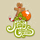 Merry Christmas. Vector merry Christmas greeting card Royalty Free Illustration