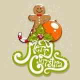 Merry Christmas. Vector merry Christmas greeting card Stock Photos