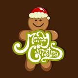 Merry Christmas. Vector merry Christmas greeting card Stock Photography
