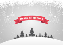 Merry Christmas. Vector Merry Christmas message design Royalty Free Stock Photography