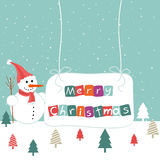 Merry Christmas. On the blue background vector illustration