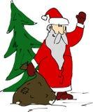 Merry Christmas. SantaClaus wishing you Merry Christmas Stock Photos