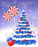 Merry Christmas. Seasonal Illustration Drawn in PSP Royalty Free Illustration