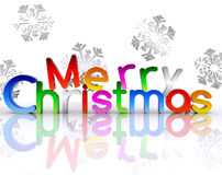 Merry Christmas - 3D Royalty Free Stock Images
