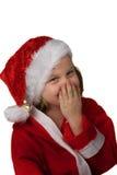 Merry Christmas. Christmas presents and christmas hat Stock Photography