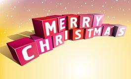 Merry christmas. Inscription made of colour bricks vector illustration