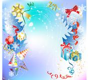 Merry christmas. Christmas background with baubles,  illustration Stock Photography
