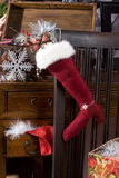 Merry Christmas. Jackboot with presents Stock Photography