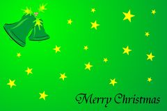 Merry christmas. Illustration of merry christmas background with stars and ring bell Stock Image