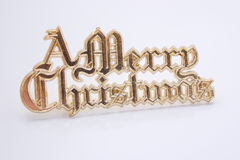 Merry christmas. Cake-decoration sign Royalty Free Stock Image
