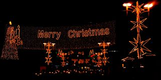 Merry Christmas. Christmas Illuminations Stock Images