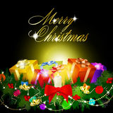 Merry christmas abstract background. Vector eps10 illustration Stock Photography