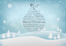 Merry Christmas Abstract Background. Typography Christmas Ball Abstract Background Royalty Free Stock Image