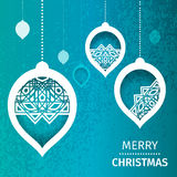 Merry Christmas Abstract blue background Royalty Free Stock Image