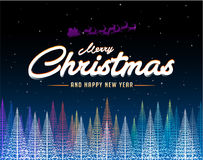 Merry Christmas abstract colorful tree background vector illustration