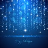 Merry Christmas abstract light background with falling glowing d Stock Images