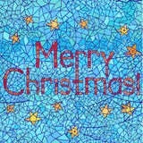 Merry Christmas: abstract mosaic greeting card design with text Royalty Free Stock Photography