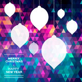 Merry Christmas Abstract polygonal  background Stock Photography
