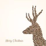 Merry Christmas abstract reindeer Stock Photography