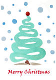 Merry Christmas! Abstract watercolor illustration Royalty Free Stock Photos