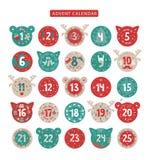 Merry Christmas advent calendar design stock illustration