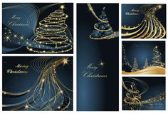 Merry Christmas And Happy New Year Backgrounds Royalty Free Stock Photos